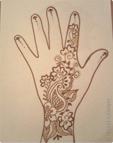 Рисунки на руках пошагово