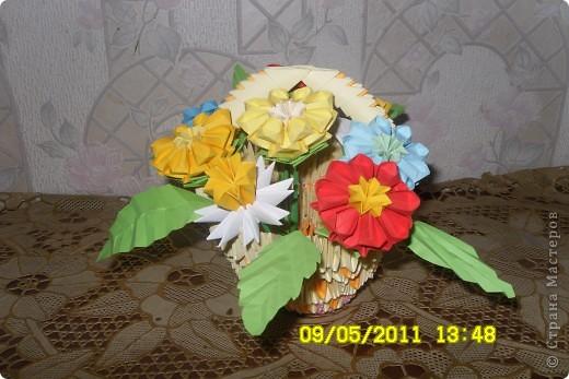Корзинка с цветами.