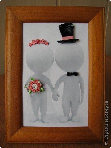 На свадьбу, в подарок для подруги, получилась вот такая своеобразная открыточка фото 1