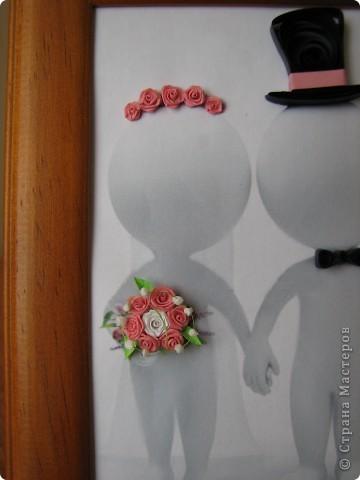 На свадьбу, в подарок для подруги, получилась вот такая своеобразная открыточка фото 2