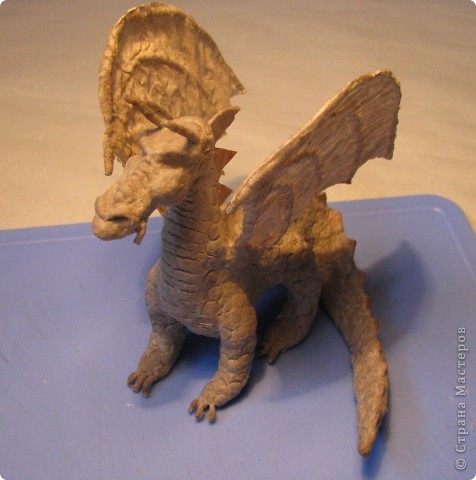 Как обещала, показываю этапы создания дракона. Маленький Элиот-хранитель.  фото 17