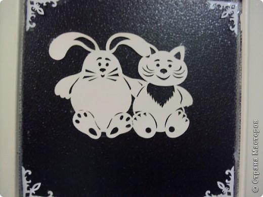 Символы 2011 года - Заяц и Кот. Силуэтное вырезание.