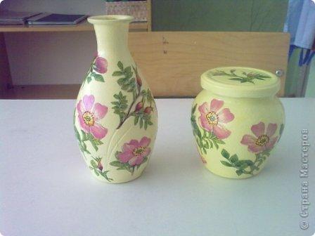 Коллега принесла вот эту стеклянную вазочку и предложила что-нибуть сотворить........ фото 1