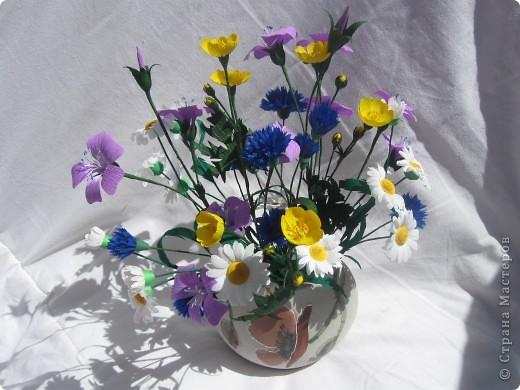 Полевые цветы из бумаги гофрированной своими руками