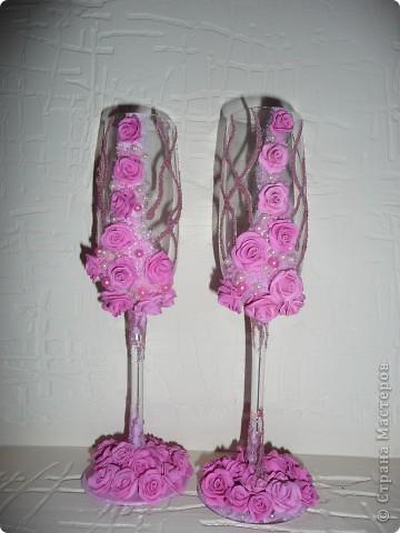 """Свадебные бокалы """"47 роз"""" фото 3"""