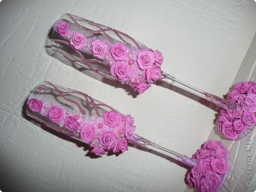 """Свадебные бокалы """"47 роз"""" фото 1"""