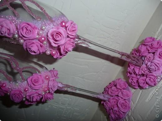 """Свадебные бокалы """"47 роз"""" фото 2"""