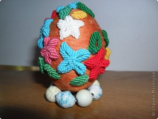 Пасхальное яйцо в технике макраме