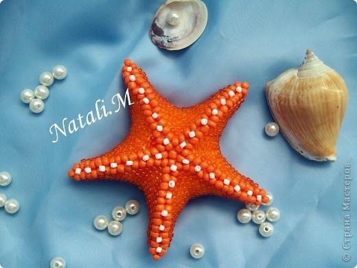 """Большая """"морская"""" звезда... из бисера фото 1"""