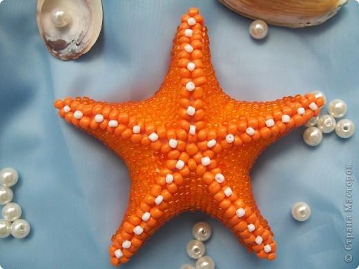 """Большая """"морская"""" звезда... из бисера фото 2"""