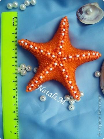 """Большая """"морская"""" звезда... из бисера фото 3"""