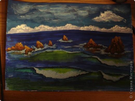 Морская зарисовка с пальмой.Специально для Натальи и её сынули. фото 18