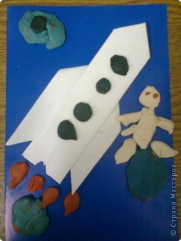 Аппликация космос бумага