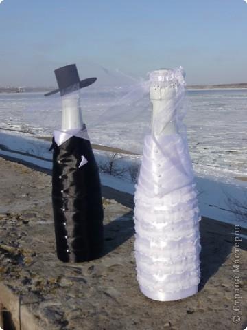 Так я решила оформить шампанское на свадьбу подруги. фото 1