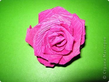 Чтобы сделать розочку из гофрированной бумаги, нам понадобится: бумага, ножницы, клей ПВА, спица или зубочистка фото 1