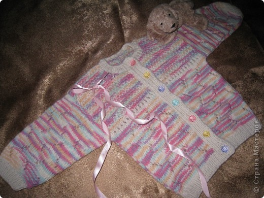 Кофточка и пинетки для Машеньки-дочурки друзей. фото 8