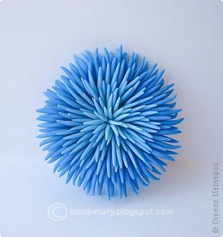Дорогие мастера и мастерицы! Сегодня я к вам с лепкой из запекаемой полимерной глины. Это кулон от темно-голубого до светло-голубого цвета. фото 3