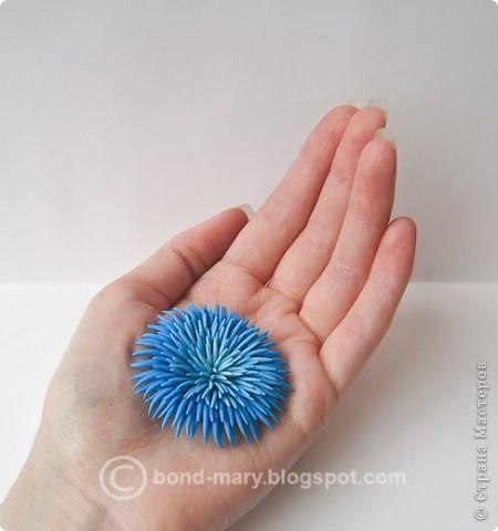 Дорогие мастера и мастерицы! Сегодня я к вам с лепкой из запекаемой полимерной глины. Это кулон от темно-голубого до светло-голубого цвета. фото 4