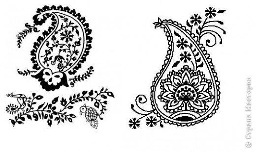 """Очень многие увлекаются росписью хной по телу рисуют различной сложности узоры, орнаменты, а кто-нибудь задумывался, что означают те или иные символы. Давайте немного углубимся и узнаем тайны наших с вами рисунков. Сегодня рассмотрим значение узоров в Индии .  Менди-индийское название хны. Роспись по телу с помощью хны представляет собой духовную и терапевтическую процедуру, вот почему менди никогда не наносят в спешке. В индийской культуре огромное значение имеет символизм и менди тоже говорит на языке символов. Рисунки хной, которые делают в Индии и Пакистане, самые сложные в мире. В наиболее популярных из них используется узор с """"огурцами"""". фото 1"""