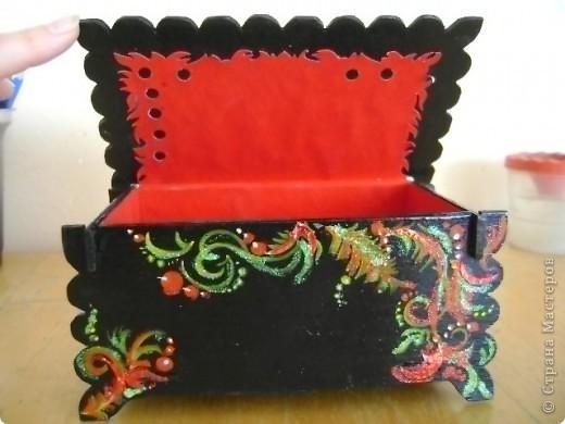 Шкатулка декоративная для бижутерии. фото 8