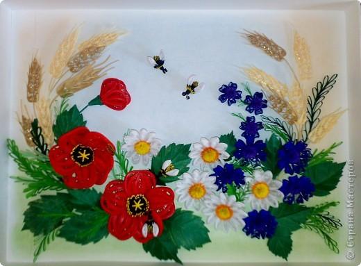 Вот, составила композицию из полевых цветов фото 4