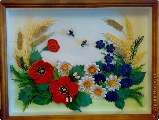 Вот, составила композицию из полевых цветов