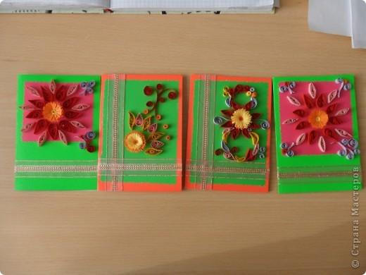 мини-открытки на 8-е Марта