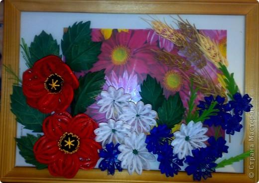 Вот, составила композицию из полевых цветов фото 2