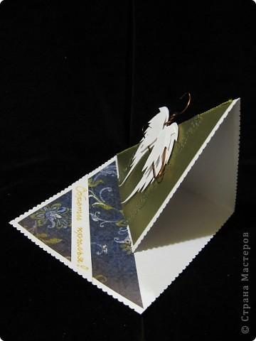 """Очередная открытка к ПОСЛЕДНЕМУ ЗВОНКУ Вообще-то картинку """"крылышки на плечиках"""" я где-то видела. Так что идея мне не принадлежит, но она мне очень понравилась. Итак, открытка №10 Её девиз - """"ОБРЕТИ КРЫЛЬЯ!"""" Осталось 5! фото 3"""
