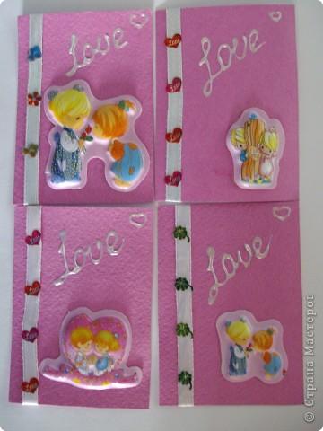 Карточки делали вместе с дочкой Зинулей, ей так понравилось. фото 1