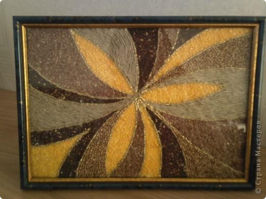 Панно из семян и крупы