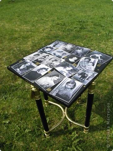 У старого столика треснуло стекло, и остались от столика только ножки))). Ну не пропадать же добру!!! фото 1