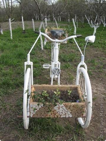 Вот такой трёхколёсный велосипед соорудили из обычного... фото 2
