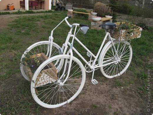 Вот такой трёхколёсный велосипед соорудили из обычного... фото 3