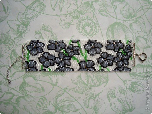 В первый раз попробывала двойное мозаичное плетение. Сделала для сестры браслет. фото 2