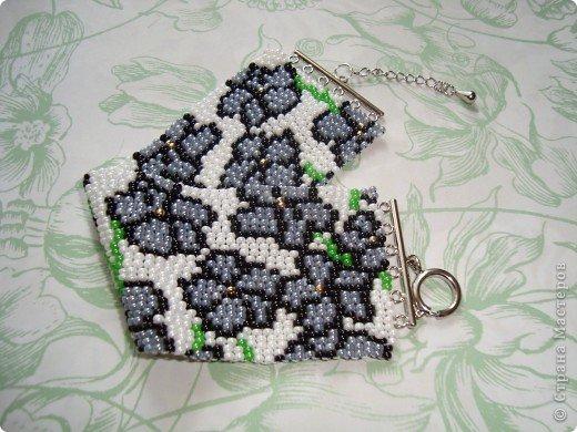 В первый раз попробывала двойное мозаичное плетение. Сделала для сестры браслет. фото 1