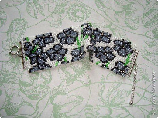 В первый раз попробывала двойное мозаичное плетение. Сделала для сестры браслет. фото 3