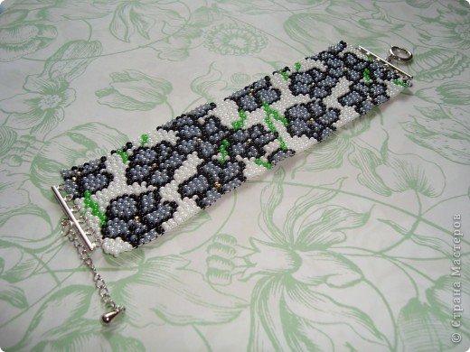 В первый раз попробывала двойное мозаичное плетение. Сделала для сестры браслет. фото 4