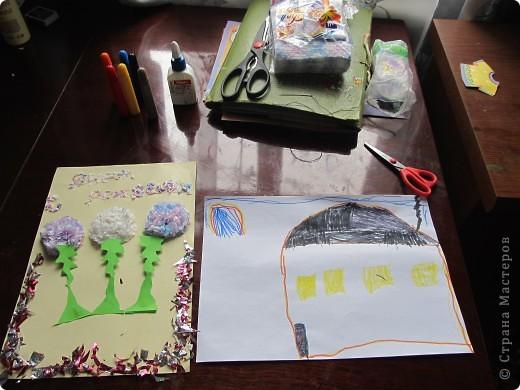 Открытка с одуванчиками на день рождения моего брата.