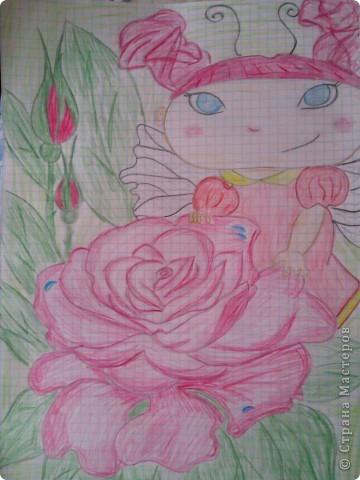 увидела эту феечку и решила нарисовать,автора не знаю))) фото 1