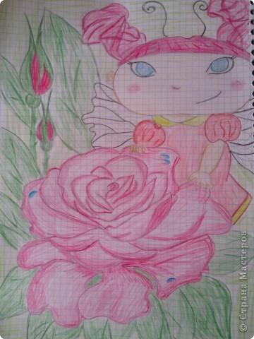 увидела эту феечку и решила нарисовать,автора не знаю))) фото 2