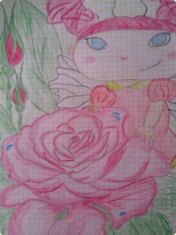 увидела эту феечку и решила нарисовать,автора не знаю))) фото 3