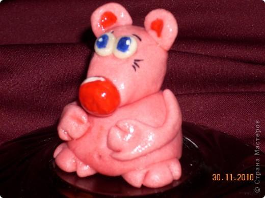 Вот такая розовая мышуля.