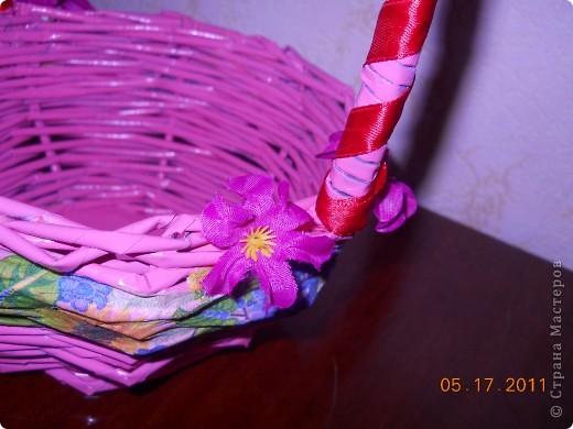 Это моя первая корзинка, первый декупаж, первый подарок куме фото 2