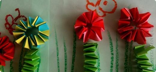 """Мы сегодня делали такие """"Цветочки на лугу"""" фото 4"""
