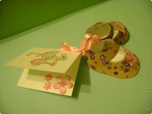 """""""Открытка"""" Пинетки (С новорожденным) фото 3"""
