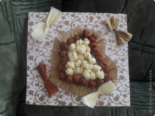 Сделали с младшим открытку в подарок кресной(моя двоюродная сестра) фото 1
