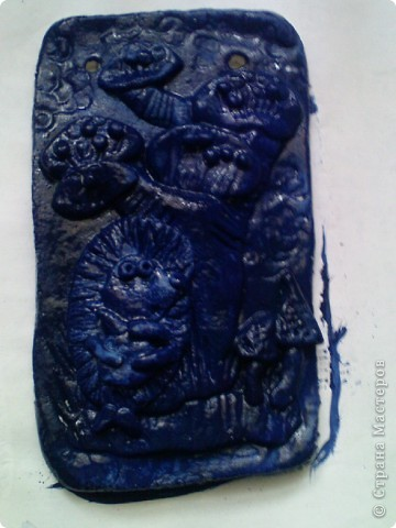 сегодня решили раскрашивать фигурки необычным способом,загрунтовать синей краской((вместо обычной коричневой. фото 2