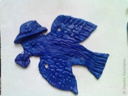 сегодня решили раскрашивать фигурки необычным способом,загрунтовать синей краской((вместо обычной коричневой. фото 6