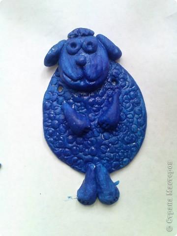 сегодня решили раскрашивать фигурки необычным способом,загрунтовать синей краской((вместо обычной коричневой. фото 7